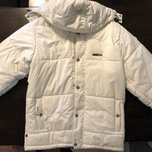 Foursquare White Snowboard Jacket, MEN Small